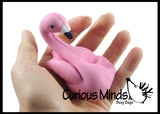 Small Flamingo Squishy Slow Rise Foam Bird -  Scented Sensory, Stress, Fidget Toy