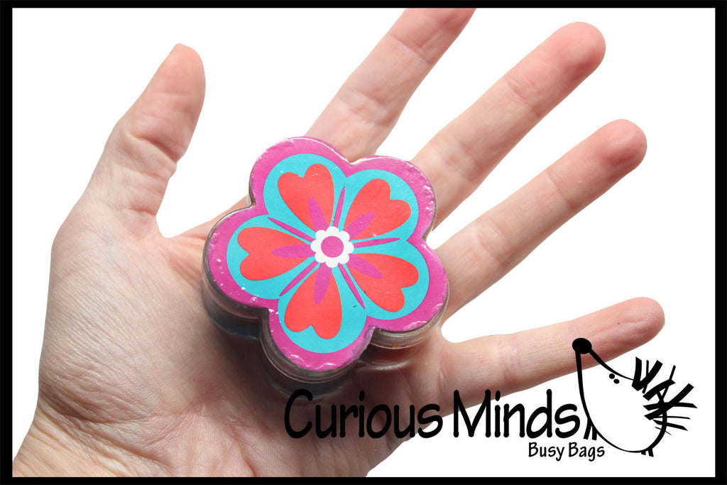 CLEARANCE - SALE - Metallic Flower Slime - Putty / Slime