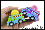 Food Truck Theme Pull Back Cars - Cute Fun Novelty Toy - Classic Party Favors