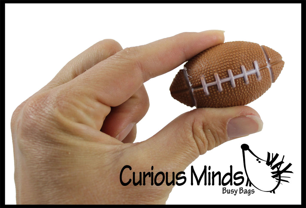 Football Bouncy Super Balls - Sports Team Athletic Youth Players - Cute Party Favors or Classroom Rewards Pig Skin
