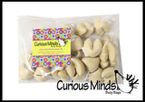 Cute Fortune Cookie Erasers - With Fortune in each one!  Adorable Novelty Prize