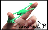 Tiny Frog Sling Shot Novelty Toy - Party Favors - Finger Strength
