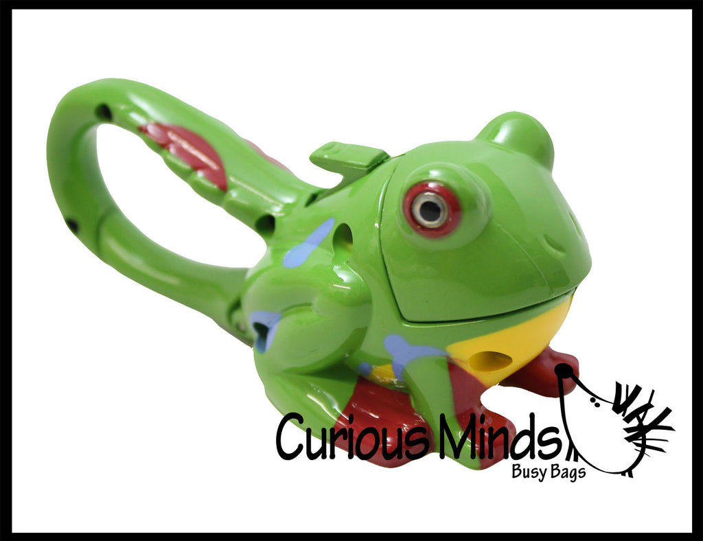 Light Up Frog Carabiner Keychain - Sensory Toy