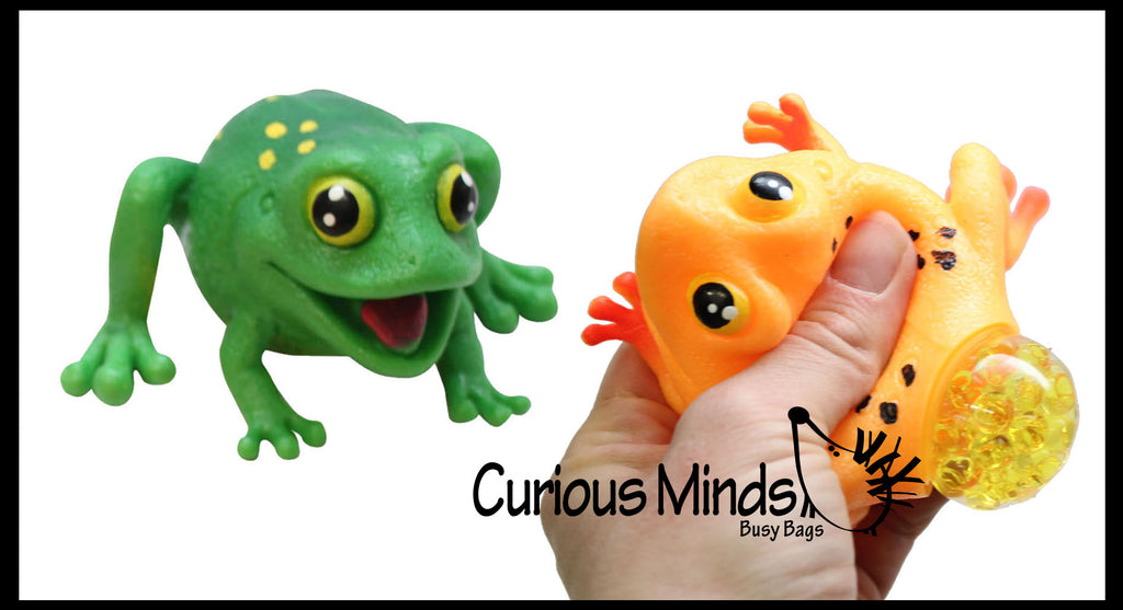 Frog with Eggs Squeeze Stress Ball  -  Sensory, Stress, Fidget Toy