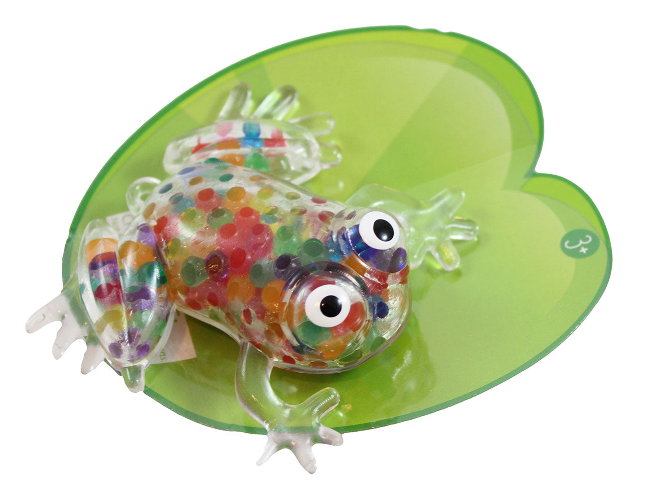 Frog Rainbow Water Bead Filled Squeeze Stress Ball  -  Sensory, Stress, Fidget Toy