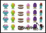 Cute Frozen Treats Food Figurines Replicas - Math Counters, Sorting or Alphabet Objects