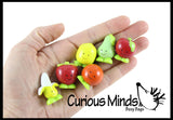 Cute Fruit Mini Food Figurines Replicas - Math Counters, Sorting or Alphabet Objects, Playsets