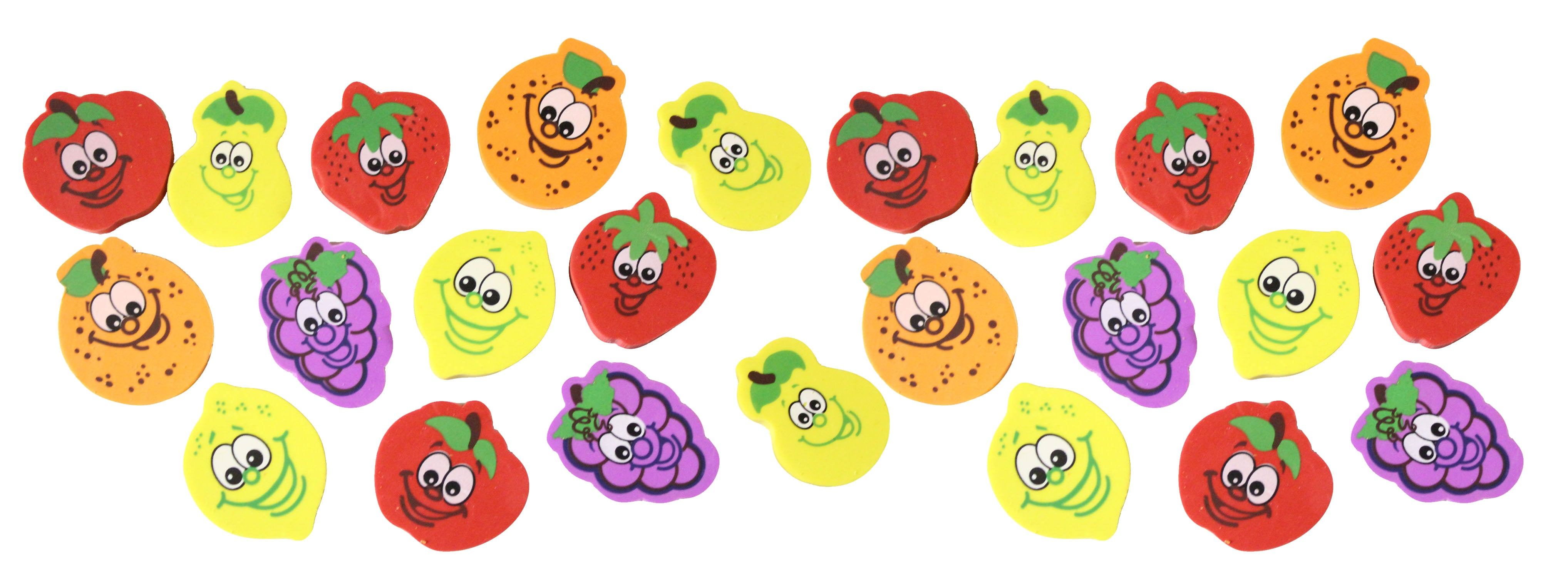 Fruit Erasers - Novelty and Functional Adorable Eraser Novelty Treasure Prize, School Classroom Supply, Math Counters - Sorting - Party Favor