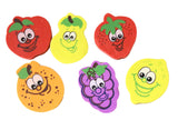 CLEARANCE SALE - Fruit Erasers - Novelty and Functional Adorable Eraser Novelty Treasure Prize, School Classroom Supply, Math Counters - Sorting - Party Favor