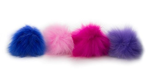 Large Hairy Fuzzy Pom Clip -  Sensory Fur Toy