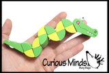 Crocodile Bendy Wood Fidget Toy