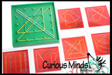 Pattern Matching Geoboard Learning Toy - Early Math Toy