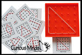 Mini Geoboard (shape, alphabet and number cards available)
