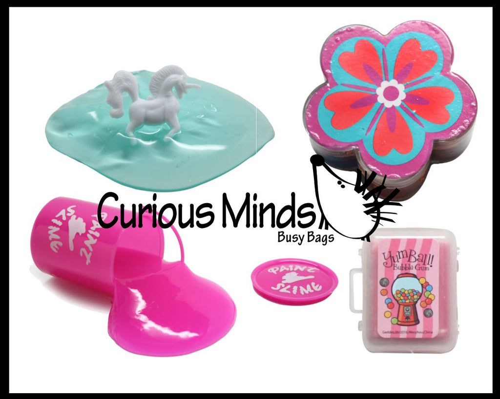 CLEARANCE - SALE -  Girl Slime Sampler Bundle - Try out 4 different slimes and putties