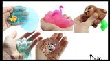 5 Girl Themed Figurines in Slime - Sampler Bundle  Try out 5 different slimes and putties