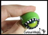 Gliding Eyeball Rings - Moving Glide Eye Ball Ring - Party Favor Fidget Halloween - Kids Jewelry