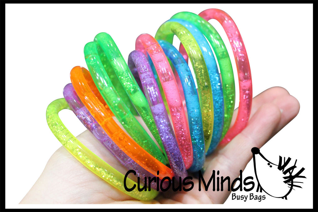 Water Filled Glitter Bracelet - Pretty Sensory Fidget