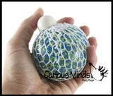 Confetti Gel Filled Mesh Net Blob Ball - Squishy Fidget Ball
