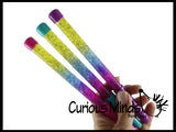 Liquid Dripping Pens with Glitter and Stars - Soothing and Calming Motion Pen - Liquid Timer Sensory Office Toy - Visual Stimulation