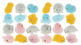 Glitter Animal Mochi Squishy  - Adorable Cute Kawaii - Individually Wrapped Toys - Sensory, Stress, Fidget Party Favor Toy