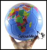 "Earth Globe Soccer Ball - 8"" Sports Ball - Outdoor Athletic Play"