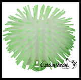 "Glow in the Dark 4"" Puffer Ball -  Indoor Soft Hairy Air-Filled Sensory Ball"