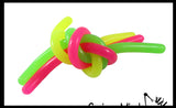 "Glow in the Dark Stretch String Fidget Toy- Worm Noodle Strings Fidget Toy - 14"" Long, Thick, Build Resistance for Strengthening Exercise, Pull, Stretchy, Fiddle"