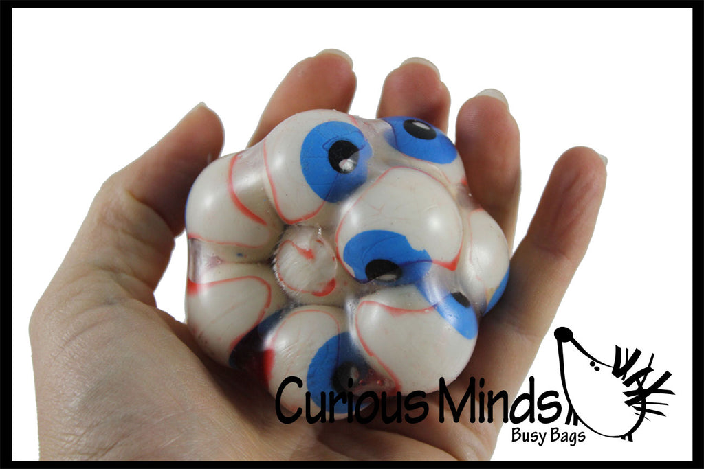 Gross Eyeball Filled Squishy Sticky Stress Ball - Body Parts - Anatomy Eye - Optometrist