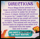 "Grow an Animal in Water - Add Water and it Grows up to 9"" - Sea Critter Toy Bath Fun Science Expanding Novelty Magic Absorbent Polymer Toy"