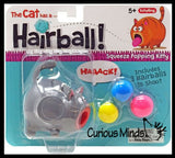 Hairball Cat - Squeeze to Make Animal Stick Out It's Tongue and Shoot a Hair Ball Across The Room - Fun Sensory Toy