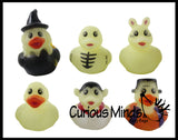 Halloween Theme Rubber Duckies - Glow in the Dark Spooky Duck for Party or Trick or Treat