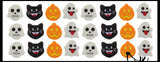 Halloween Cute Emoji Mini Erasers - Cat, Ghost, Skeleton, Jack o Lantern Pumpkin - Trick or Treat