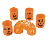 Halloween Spring Coil Novelty Toy - Pumpkin Jack O Lantern Party Favor - Trick or Treat Prize