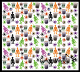 180 Piece Halloween Party Favor Set - Witches Potion Slime, Spider Tops, Stretchy Skeletons, Eye Erasers , Small Novelty Toy Prize Assortment Gifts (15 Dozen)