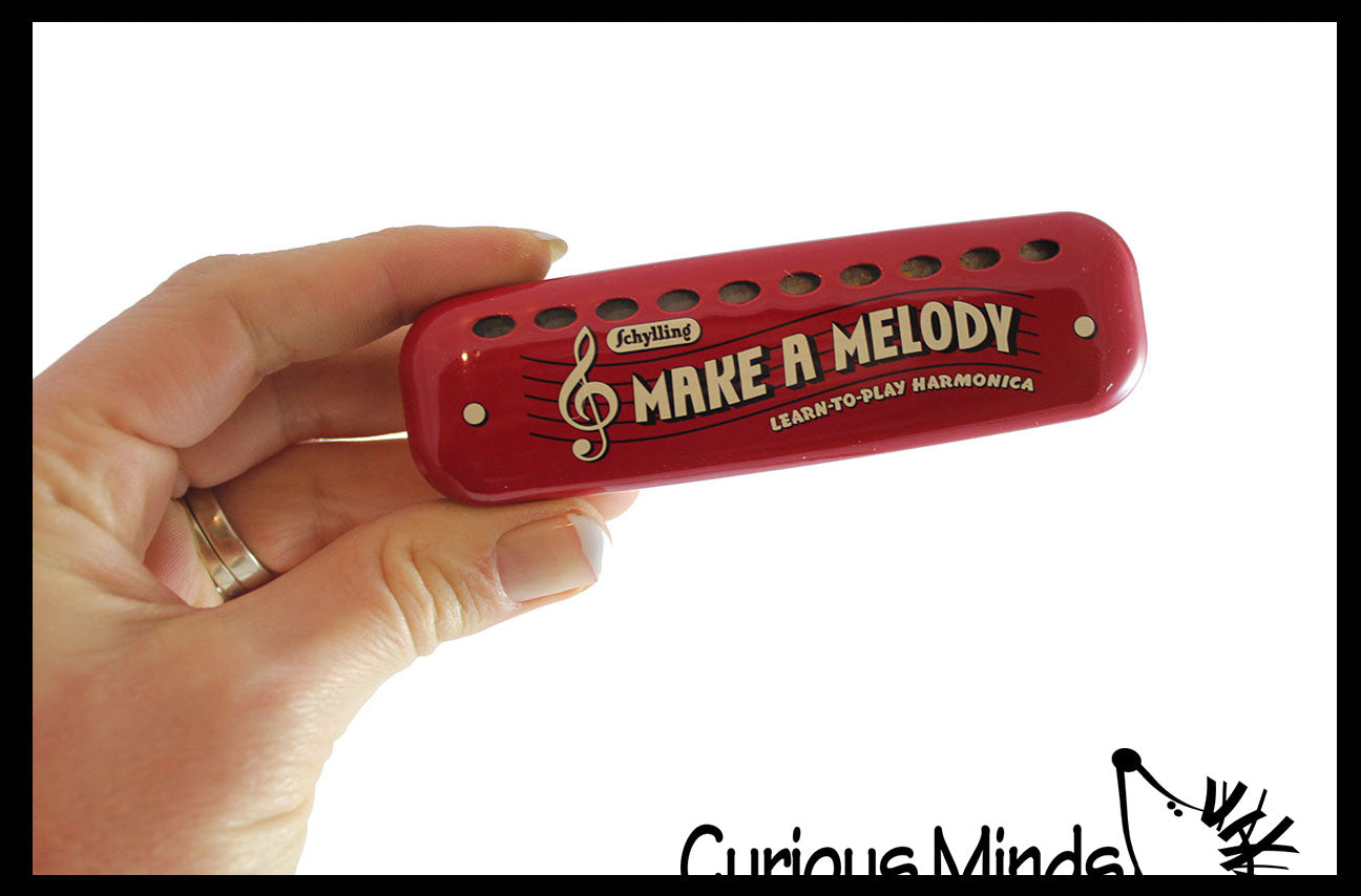 Metal Harmonica with Tune Markings for Notes - Instrument for Kids Musical Toy