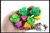 Cute Cactus Hedge Balls -  Spiky Wooly Porcupine Balls - Sensory Novelty Toy