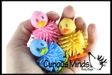 Hedge Duck Balls - Wooly Porcupine Ball Characters - Easter Egg Filler - Small Novelty Prize Toy - Party Favors - Gift - Bulk 1 Dozen