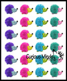 Cute Hedgehog Hedge Balls -  Wooly Porcupine Balls - Sensory Novelty Toy