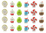 Cute Holiday Treats Food Figurines Replicas - Math Counters, Sorting or Alphabet Objects