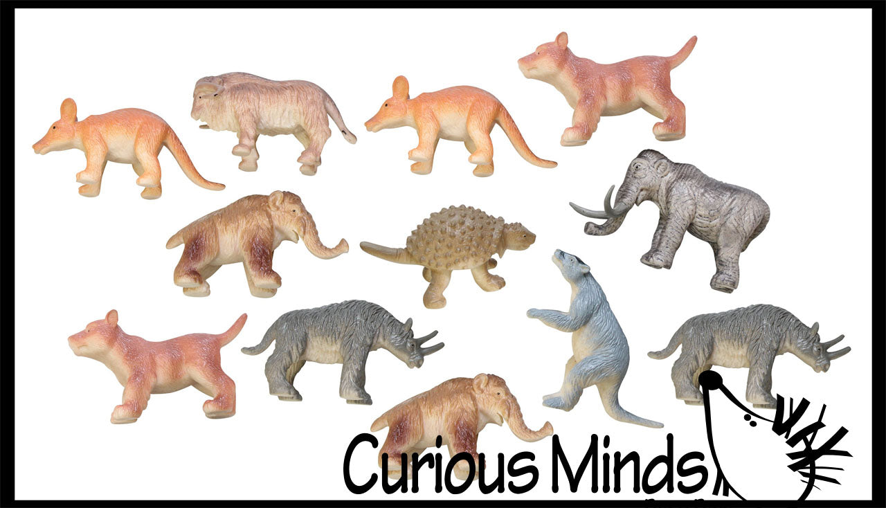 Miniature Ice Age Animal Figurines Replicas - Prehistoric
