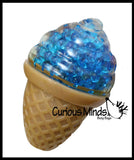 CLEARANCE - SALE - Ball Filled Ice Cream Cone Squeeze Stress Ball  -  Sensory, Stress, Fidget Toy
