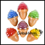 Ball Filled Ice Cream Cone Squeeze Stress Ball  -  Sensory, Stress, Fidget Toy