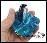 Iceberg with Penguin & Blue Slime - Ice Snow Putty - Party Favors in Iceberg Shaped Container - Winter