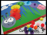 PDF DOWNLOAD - You Print- Color Sort Caterpillar Activity Page