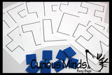 SALE - Foam Tile Outline Puzzle - Problem Solving Busy Bag