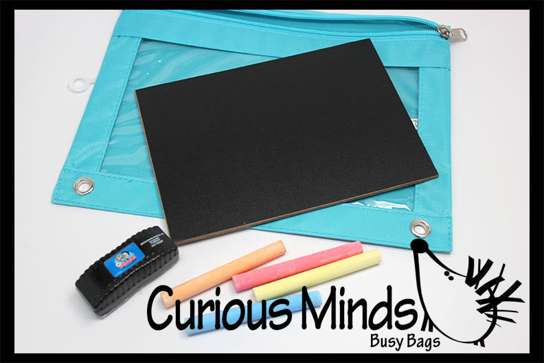 SALE - Busy Bag:  Travel Chalk Board with Eraser and Chalk