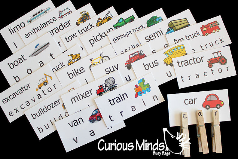 Word Cards - House, Pets, Zoo, Bugs, Cars and trucks, Sealife, School, Food, Farm, clothing, body
