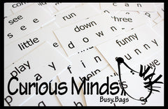 Dolch Sight Word Busy Bag (learning activity) for Toddlers and young children.