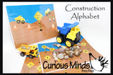 PDF File - YOU PRINT - Busy Bag - Construction Alphabet Matching Learning Game (TRUCK AND ROCKS NOT INCLUDED)