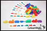 Transportation Vehicles Patterns Busy Bag - Cars, Bus, Helicoptor, Boat, Train, Planes - Educational Toy with Vehicle Manipulatives